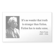 Mark Twain 6 Rectangle Decal