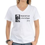 Mark Twain 7 Women's V-Neck T-Shirt