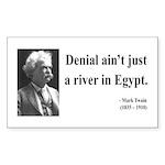 Mark Twain 7 Rectangle Sticker