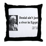 Mark Twain 7 Throw Pillow