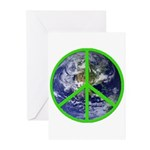 Earth Peace Symbol Greeting Cards (Pk of 10)