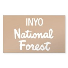 Inyo (Sign) National Forest Rectangle Decal
