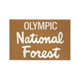 Olympic National Forest Rectangle Magnet