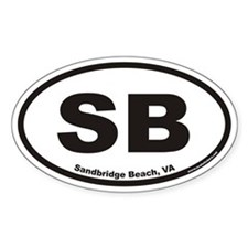 Sandbridge Beach SB Euro Oval Decal