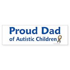 Proud Dad Of Autistic Children Bumper Bumper Sticker