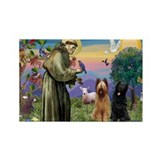 St Francis & Briard Pair Rectangle Magnet