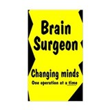 Brain Surgeon Rectangle Decal