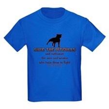Save The Pit bulls Kids Dark T-Shirt