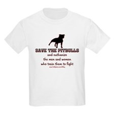 Save The Pit bulls Kids Light T-Shirt