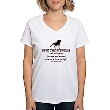 Save The Pit bulls Women's V-Neck T-Shirt