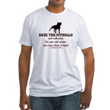 Save The Pit bulls Fitted T-Shirt