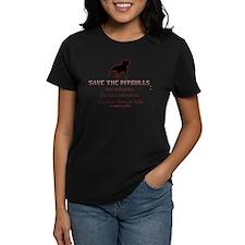 Save The Pit bulls Women's Dark T-Shirt
