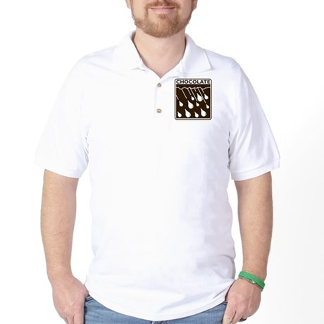 'Rain Drop Chocolate' Golf Shirt