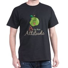A Is For Attitude Apple T-Shirt