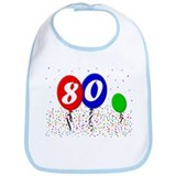 80th Birthday Bib