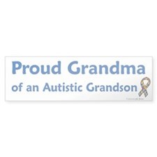 Proud Grandma Of Autistic Grandson Bumper Sticker