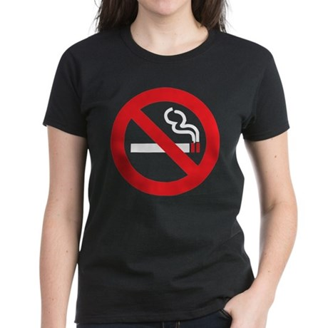 Classic No Smoking Women's Dark T-Shirt