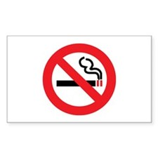 Classic No Smoking Rectangle Decal