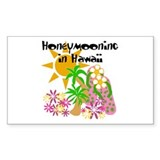 Honeymoon Hawaii Rectangle Decal