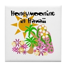 Honeymoon Hawaii Tile Coaster