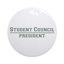 Student Council President Ornament (Round)