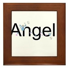 Personalizable Cute ANGEL Framed Tile