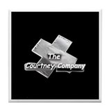 Courtney Company logo Tile Coaster