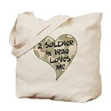 Iraq soldier loves me Tote Bag