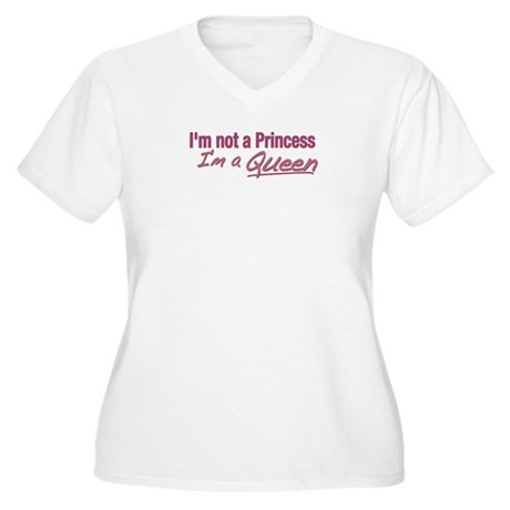 I'm a Queen Women's Plus Size V-Neck T-Shirt