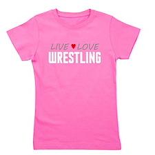 Live Love Wrestling Girl's Dark Tee