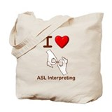 I Love ASL Interpreting 1 Tote Bag