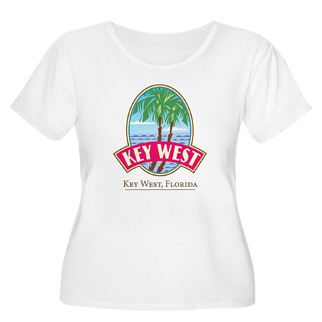 Retro Key West - Women's Plus Size Scoop Neck T-S
