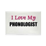 I Love My PHONOLOGIST Rectangle Magnet (10 pack)