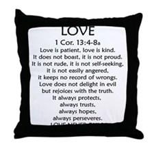 1Cor.13 Love Throw Pillow