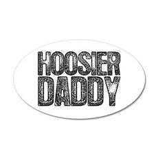 Hoosier Daddy 38.5 x 24.5 Oval Wall Peel