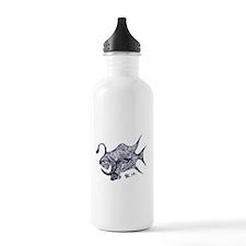 Blue Chrome Retro Fish Water Bottle
