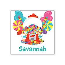 Custom Name Candyland Birthday Sticker