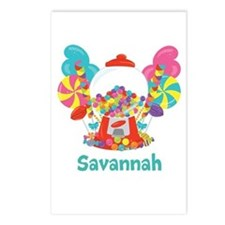 Custom Name Candyland Birthday Postcards (Package