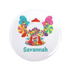 Custom Name Candyland Birthday Button