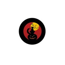 Black Cat w/ Moon Mini Button (100 pack)