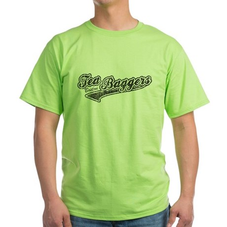 Boston Tea-Baggers Green T-Shirt