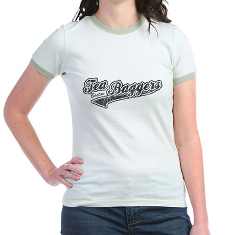 Boston Tea-Baggers Jr Ringer T-Shirt