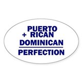 Dominican + Puerto Rican Oval Decal