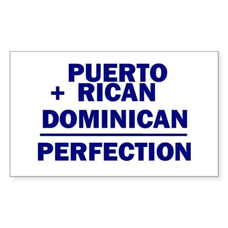 Dominican + Puerto Rican Rectangle Sticker