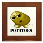 Potato Head with Toes Framed Tile