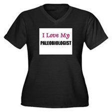 I Love My PALEOBIOLOGIST Women's Plus Size V-Neck