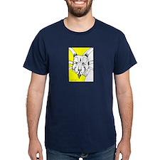 Spiky Yellow Styracosaurus T-Shirt