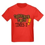 Terrible Twos - Times 2! Kids Dark T-Shirt