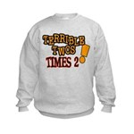 Terrible Twos - Times 2! Kids Sweatshirt
