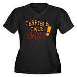 Terrible Twos - Times 2! Women's Plus Size V-Neck